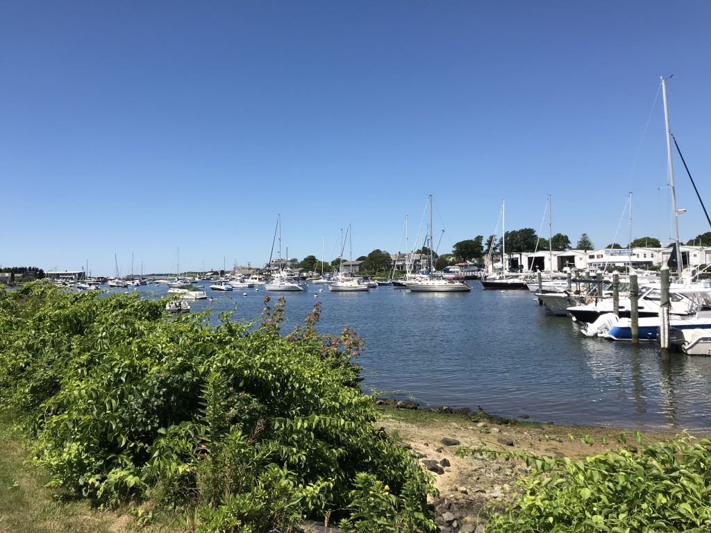 Sailboats at Falmouth Harbor