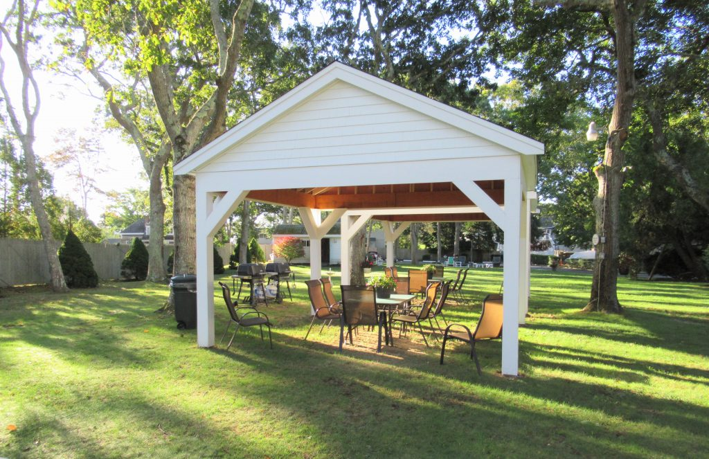 Gazebos and grilles, plus tables and chairs