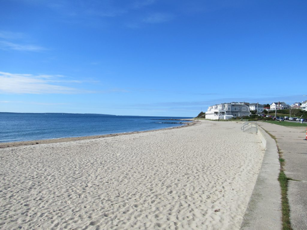 Curved beachfront at Falmouth Heights Beach