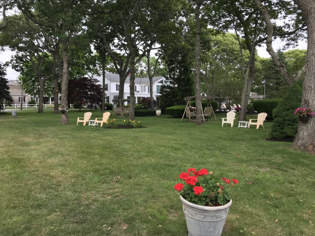 Spacious grounds surrounding Falmouth Heights Motor Lodge